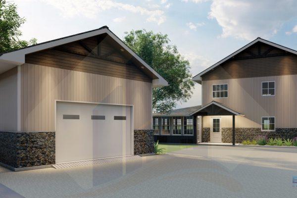 Cabin and Garage - Option 1