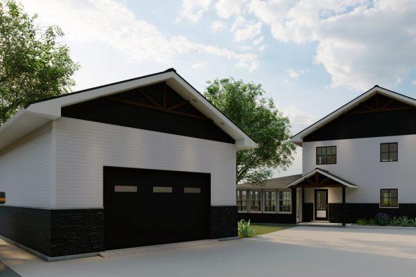 Cabin and Garage - Option 2