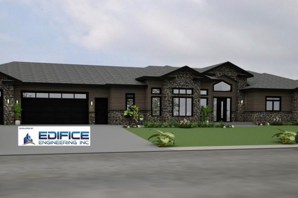 Long Bungalow with Dual and Single Car Garage